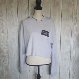 Abercrombie & Fitch Cropped Pullover Hoodie Large